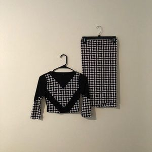 goodtime Other - Black and white two-piece set size S